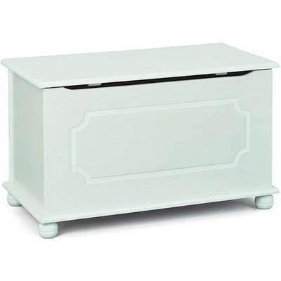 Emel Wooden Childrens Toy Box In White