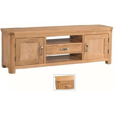 Empire Wide Wooden TV Stand With 2 Doors And 1 Drawer