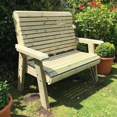 Erog Wooden Outdoor 2 Seater Bench