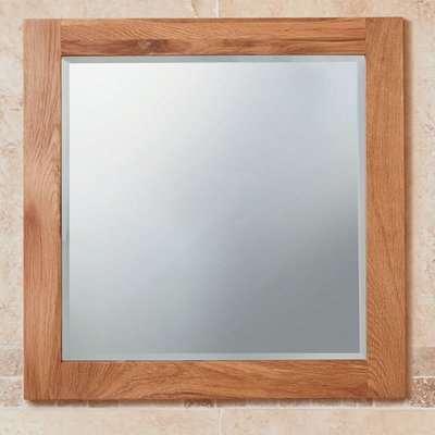 Fornatic Large Bathroom Mirror In Solid Oak Wooden Frame