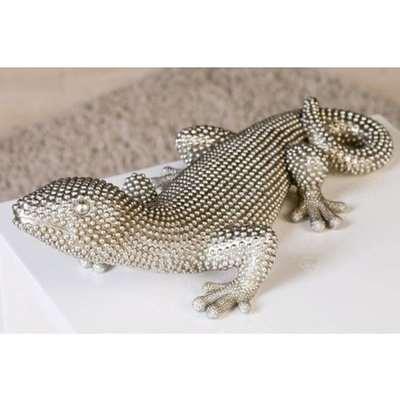 Gecko Carlo Poly Ornament In Silver
