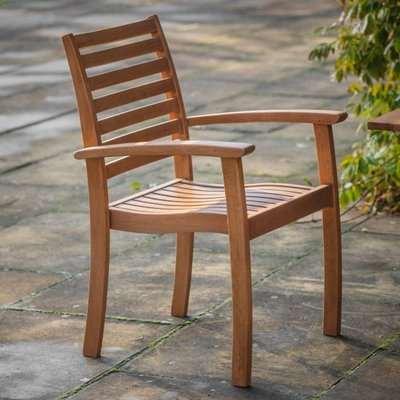 Gomir Outdoor Wooden Armchair In Oak