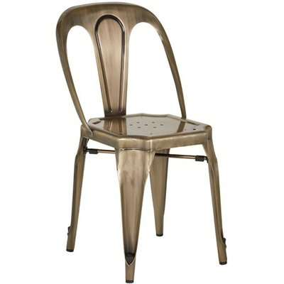 Dschubba Metal Dining Chair In Brass