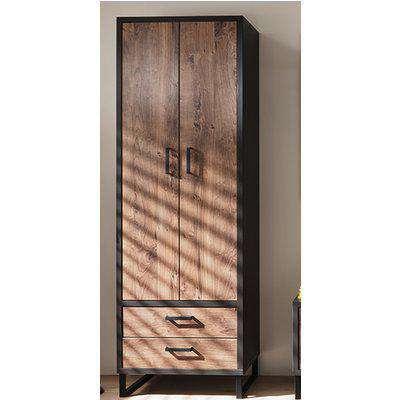 Halifax Wooden Wardrobe In Barrique Oak With 2 Doors 2 Drawers