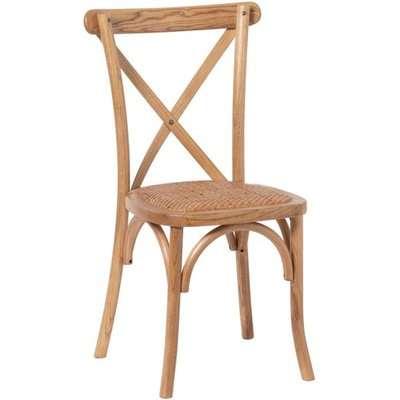 Hapron Cross Back Wooden Dining Chair In Light Oak