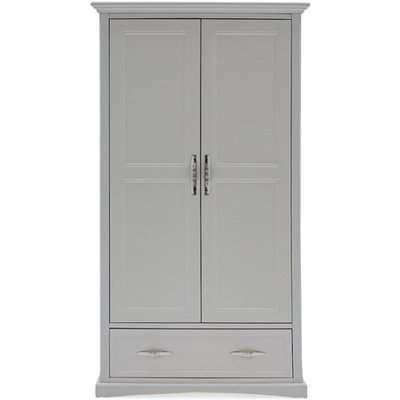 Harlow Wooden Wardrobe In Grey With 2 Doors