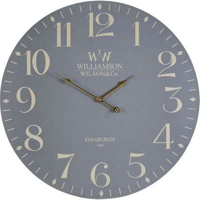 Hista Classical Wooden Wall Clock In Grey