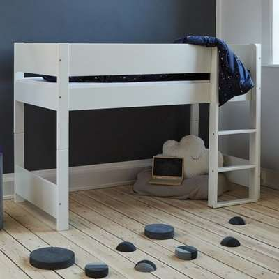 Huia Kids Wooden Mid Sleeper Bunk Bed In White