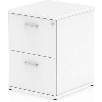 Impulse Wooden 2 Drawers Filing Cabinet In White