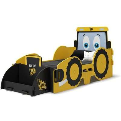 JCB Junior Kids Bed In Yellow With Screen Printed Graphics
