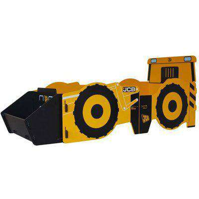 JCB Kids Single Bed In Yellow With Screen Printed Graphics