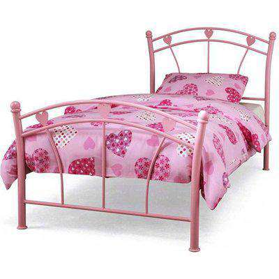 Jemima Metal Small Single Bed In Pink