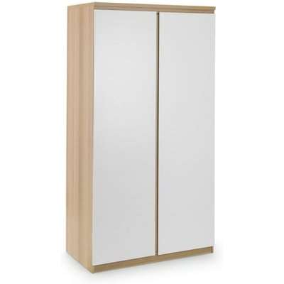 Jupiter Wooden Wardrobe In Grey Oak With 2 Doors