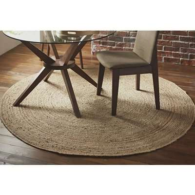 Kerrville Small Round Jute Rug In Brown