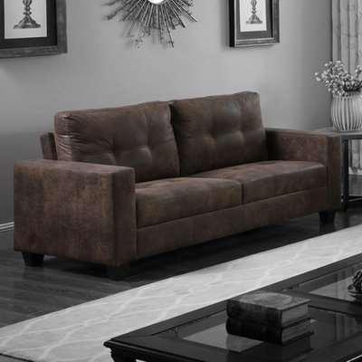 Lena Antique Fabric 1 Seater Sofa In Brown