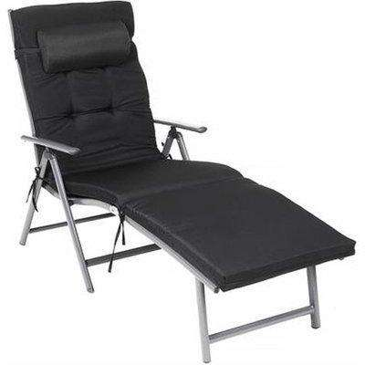 Lewisville Sun Lounger With Removable Headrest In Black