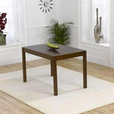 Luzern Wooden Small Dining Table Rectangular In Dark Oak