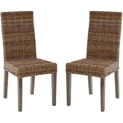 Helvetios Natural Kubu Rattan Dining Chairs In Pair