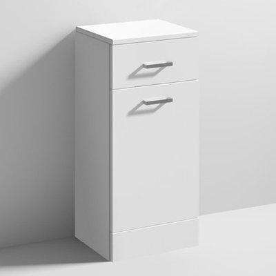Mayetta 30cm Bathroom Laundry Basket In Gloss White