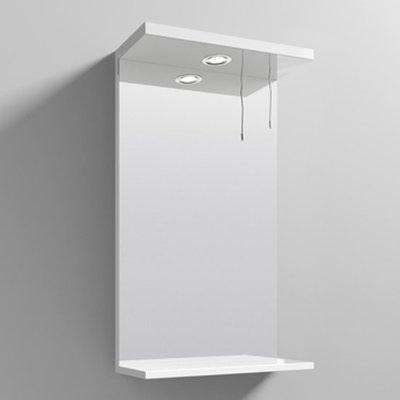 Mayetta 45cm Bathroom Mirror In Gloss White Frame With LED
