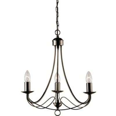 Maypole Antique Brass 3 Lamp Ceiling Light