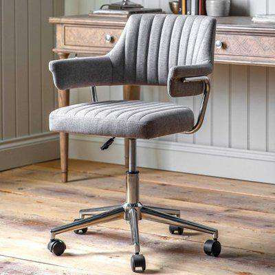 Mcintyre Fabric Swivel Office Chair In Grey