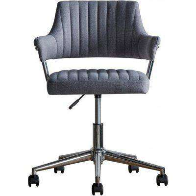 Mcintyre Fabric Swivel Office Chair In Charcoal