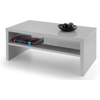 Metric Coffee Table In Grey High Gloss With UnderShelf