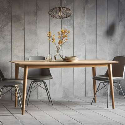 Milano Wooden Dining Table In Matt Lacquer