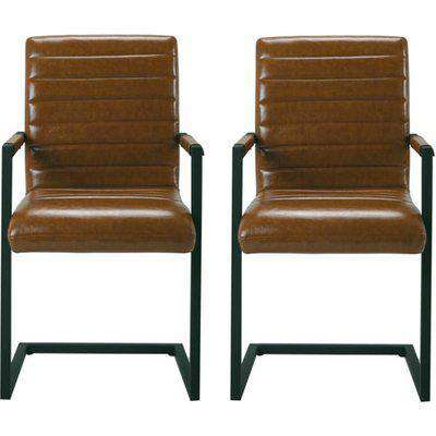 Montana Brown Finish Carver Dining Chairs In Pair