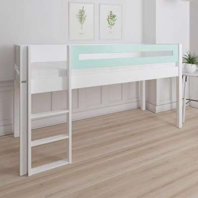 Morden Kids Mid Sleeper Bed With Safety Rail In Azur Mint