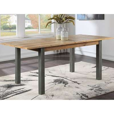 Nebura Extending Wooden Dining Table In Reclaimed Wood