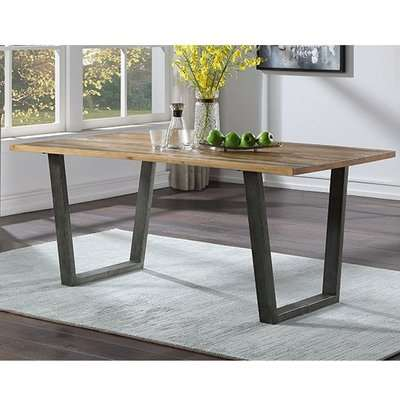 Nebura Wooden Dining Table In Reclaimed Wood