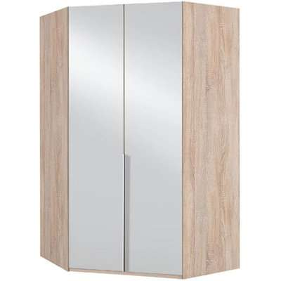 New York Mirrored Corner Wardrobe In Oak
