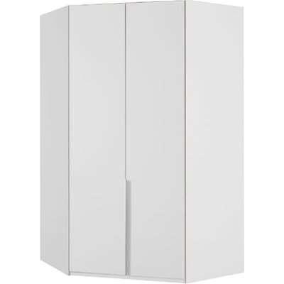 New York Wooden Corner Wardrobe In White