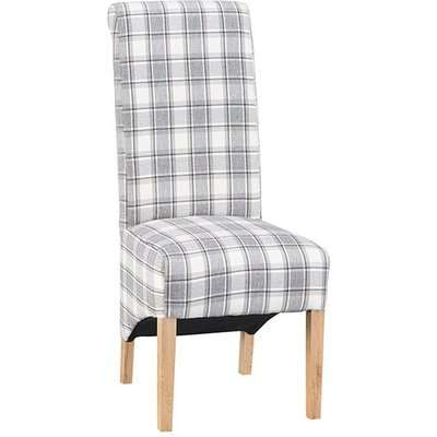 Nichols Fabric Scroll Back Dining Chair In Cappuccino