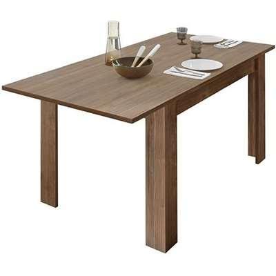 Nitro Extending Wooden Dining Table In Dark Walnut