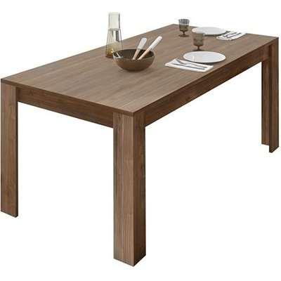 Nitro Wooden Dining Table In Dark Walnut