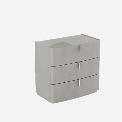 Norman Dresser Chest In Cashmere High Gloss With 3 Drawers