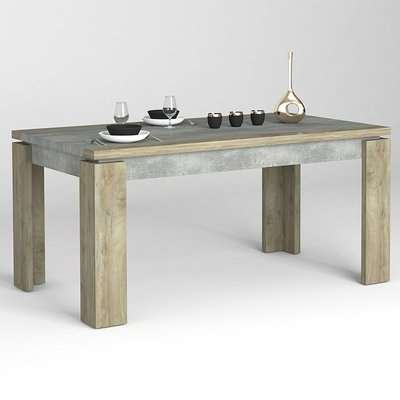 Norton Extending Dining Table In Oak And Concrete Effect