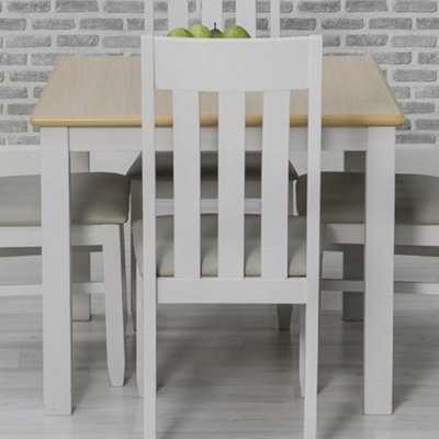 Ohyeap Square Wooden Dining Table In Oak Veneer