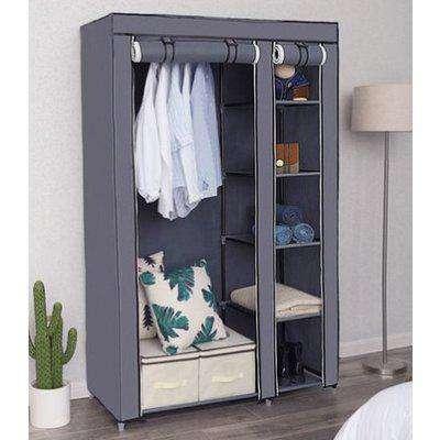 Ojai Portable Clothes Wardrobe In Grey
