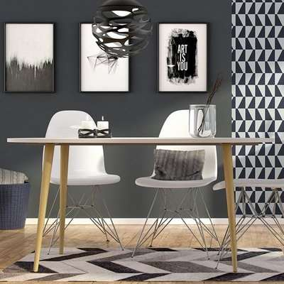 Oklo Oval Wooden Dining Table In White And Oak