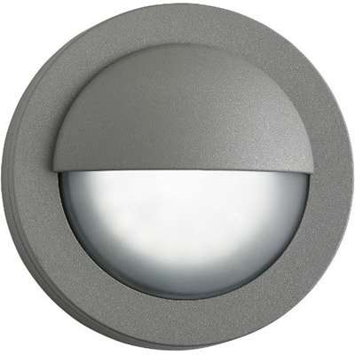 Outdoor Round LED Wall Light With Acid Glass