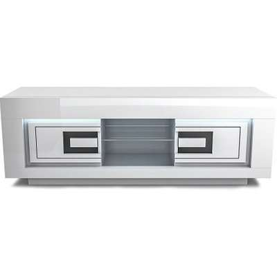 Padua Wooden LED TV Stand In High Gloss White And Black
