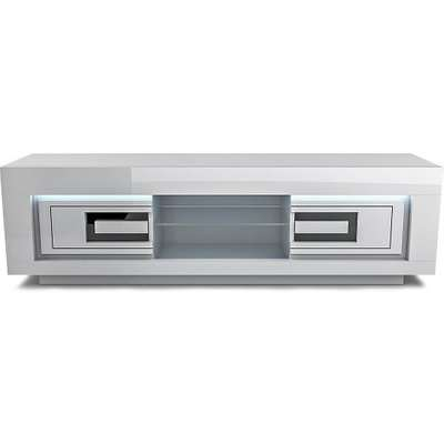 Padua Wooden Large LED TV Stand In High Gloss White And Black