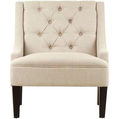 Marfak Natural Toned Linen Upholstered Bedroom Chair