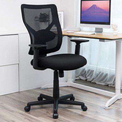 Perris Mesh Ergonomic Swivel Home And Office Chair In Black