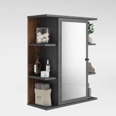 Perseus Bathroom Mirror Cabinet In Matera And Old Style Dunkel