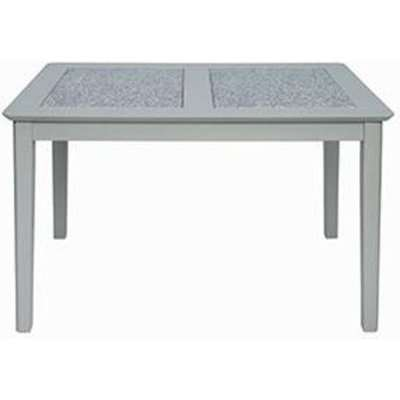 Perth Stone Inset Top Dining Table In Grey